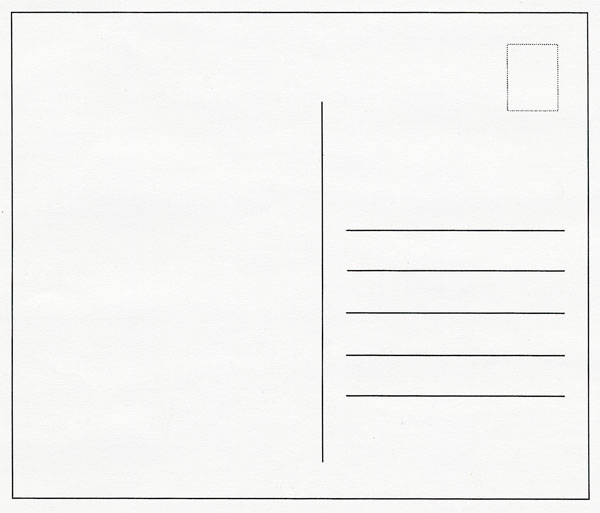 Blank Postcard Template Word Blank Business Card Template – Free Postcard Templates for Word