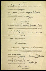 Application for land scrip by Napoleon Laurion