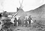 Photo of Aboriginal residents on Crow's Nest Pass Line Railway, n.d.