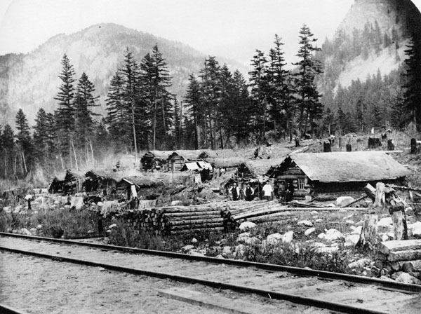 a history of the building of a railway in canada