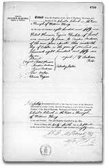 Marriage certificate of Robert Harrower and Caroline Anderson. 19 October 1859. Library and Archives Canada, MG 8 F89, vol. 8, p. 4700-4701, reel C-14034