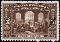 Fathers of Confederation, 50th Anniversary Stamp of Confederation, 1867-1917