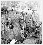 "Photograph of Forward Observation Post of ""B"" Battery, 1st Field Regiment, Royal Canadian Artillery, near Potenza, Italy, September 24, 1943. Photograph by Lieutenant Alex M. Stirton."