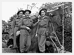 Photograph of the first nursing sisters of the Royal Canadian Army Medical Corps to land in France after D-Day. France, July 17, 1944. Photograph by Lieutenant Frank L. Dubervill.