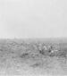 Photograph of Canadian advanced reserves digging themselves in under shell fire, Vimy Ridge, April 1917