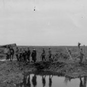 German prisoners and wounded Canadians, Battle of Passchendaele