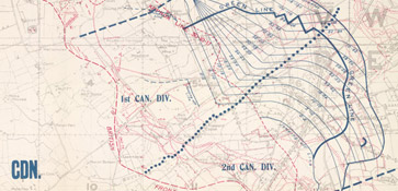 Passchendaele army barrage map