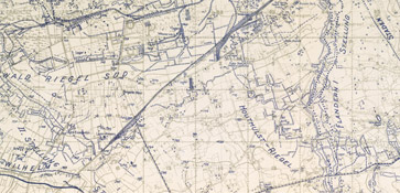 Map of the trenches at Passchendaele