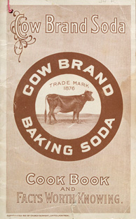 Cover of cookbook, COW BRAND SODA COOK BOOK AND FACTS WORTH KNOWING