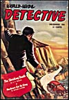 Cover of pulp magazine, WORLD WIDE DETECTIVE, volume 1, number 4 (December 1941)