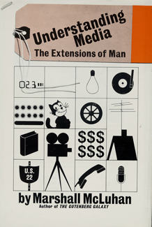 Cover of book by Marshall McLuhan entitled UNDERSTANDING MEDIA: THE EXTENSIONS OF MAN, 1964